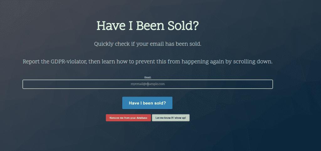 Безопасная почта: Have-i-been-sold